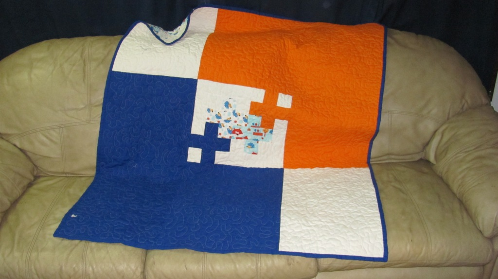 Blue and Orange Plus Back
